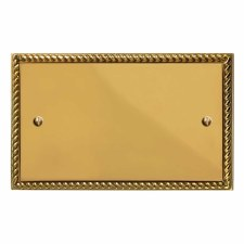 Georgian Double Blank Plate Polished Brass Lacquered