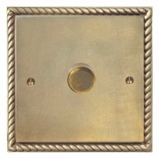 Georgian Dimmer Switch 1 Gang Antique Satin Brass