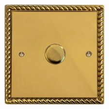 Georgian Dimmer Switch 1 Gang Polished Brass Lacquered