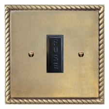 Georgian Fused Spur Connection Unit 13 Amp Antique Satin Brass