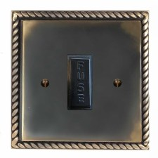 Georgian Fused Spur Connection Unit 13 Amp Dark Antique Relief