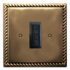 Georgian Fused Spur Connection Unit 13 Amp Hand Aged Brass