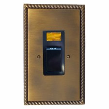 Georgian Vertical Cooker Switch Antique Brass Lacquered