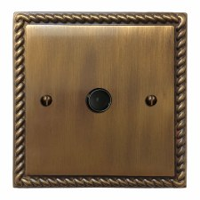Georgian Flex Outlet Antique Brass Lacquered