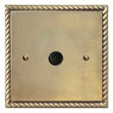 Georgian Flex Outlet Antique Satin Brass
