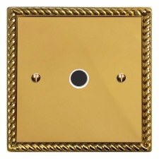 Georgian Flex Outlet Polished Brass Lacquered & White Trim