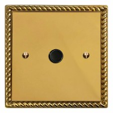 Georgian Flex Outlet Polished Brass Lacquered & Black Trim