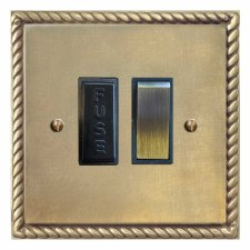Georgian Switched Fused Spur Antique Satin Brass