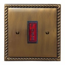 Georgian Fused Spur Connection Unit Illuminated Indicator Antique Brass Lacquered