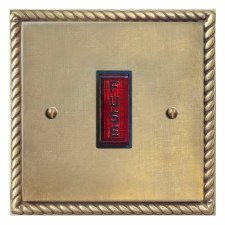 Georgian Fused Spur Connection Unit Illuminated Indicator Antique Satin Brass