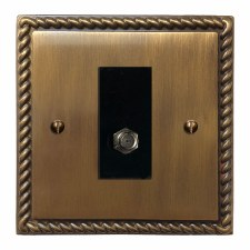 Georgian Satellite Socket Antique Brass Lacquered