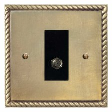 Georgian Satellite Socket Antique Satin Brass