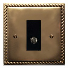 Georgian Satellite Socket Hand Aged Brass