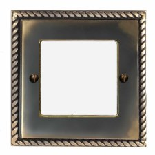 Georgian Plate for Modular Electrical Components 50x50mm Dark Antique Relief