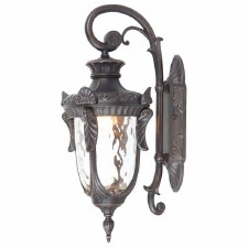Elstead Philadelphia Outdoor Wall Light Lantern Large Bronze