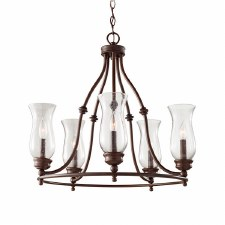 Feiss Pickering Lane 5 Light Chandelier Bronze