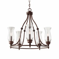 Feiss Pickering Lane 8 Light Chandelier Bronze