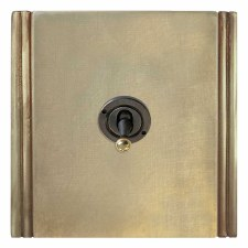 Plaza Dolly Switch 1 Gang Antique Satin Brass