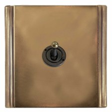Plaza Dolly Switch 1 Gang Hand Aged Brass