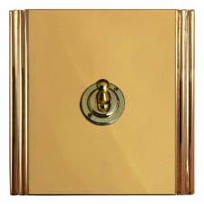 Plaza Dolly Switch 1 Gang Polished Brass Unlacquered