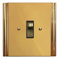 Plaza Rocker Light Switch 1 Gang Polished Brass Unlacquered