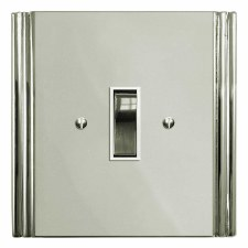 Plaza Rocker Light Switch 1 Gang Polished Nickel