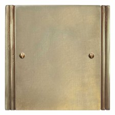 Plaza Single Blank Plate Antique Satin Brass