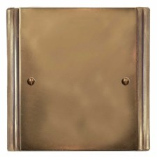 Plaza Single Blank Plate Hand Aged Brass