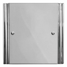 Plaza Single Blank Plate Polished Chrome