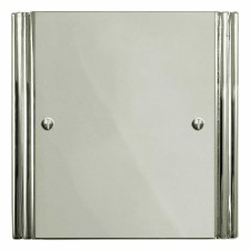 Plaza Single Blank Plate Polished Nickel