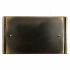 Plaza Double Blank Plate Dark Antique Relief
