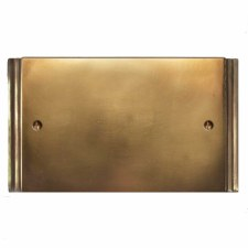 Plaza Double Blank Plate Hand Aged Brass