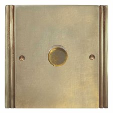 Plaza Dimmer Switch 1 Gang Antique Satin Brass