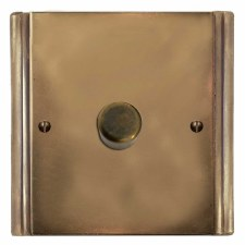 Plaza Dimmer Switch 1 Gang Hand Aged Brass