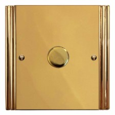 Plaza Dimmer Switch 1 Gang Polished Brass Unlacquered