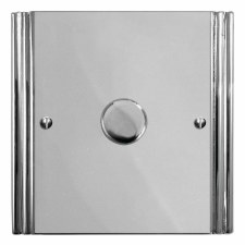 Plaza Dimmer Switch 1 Gang Polished Chrome