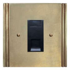 Plaza Telephone Socket Secondary Antique Satin Brass