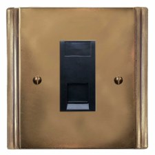Plaza Telephone Socket Secondary Hand Aged Brass