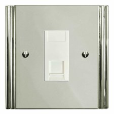 Plaza Telephone Socket Secondary Polished Nickel