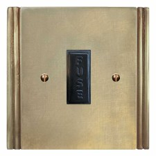 Plaza Fused Spur Connection Unit 13 Amp Antique Satin Brass