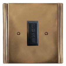 Plaza Fused Spur Connection Unit 13 Amp Hand Aged Brass