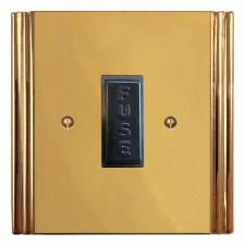 Plaza Fused Spur Connection Unit 13 Amp Polished Brass Unlacquered