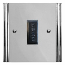 Plaza Fused Spur Connection Unit 13 Amp Polished Chrome & Black Trim