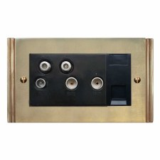 Plaza Sky+ Socket Antique Satin Brass