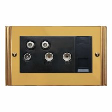Plaza Sky+ Socket Polished Brass Unlacquered