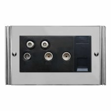 Plaza Sky+ Socket Polished Chrome & Black Trim