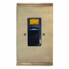 Plaza Vertical Cooker Switch Antique Satin Brass