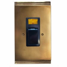 Plaza Vertical Cooker Switch Hand Aged Brass