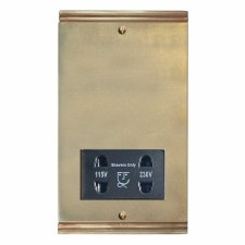 Plaza Shaver Socket Antique Satin Brass