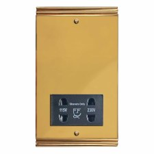 Plaza Shaver Socket Polished Brass Unlacquered